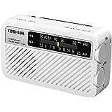 東芝 手回し充電ワイドFMラジオ(ホワイト)TOSHIBA TY-JKR5-W
