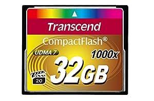 Transcend Ultimate CompactFlash 32GB Speicherkarte (1000x , 160MB/s Lesen (max.), Quad-Channel, VPG-20 Video Performance)