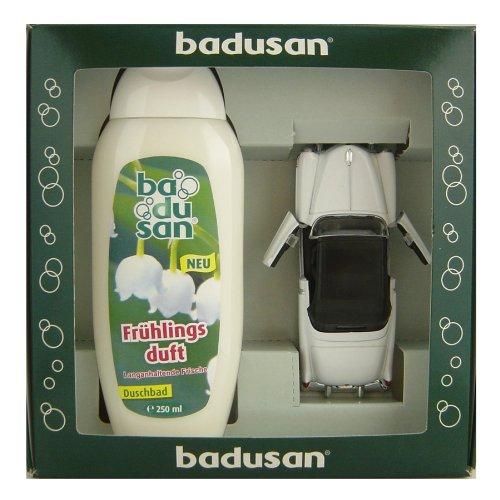 geschenkset-badusan-duschbad-250-ml-fruhlingsduft-cadillac-eldorado-1953-in-weiss-130-ca-12-cm-lang-