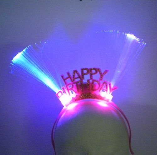 LED Happy Birthday Head Bopper (EACH) - 1