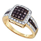 14K Yellow Gold 1/2 ct. Brown and White Diamond Fashion Ring