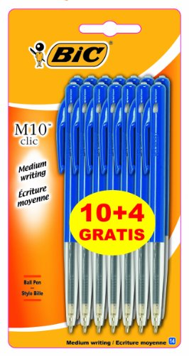 bic-m10-lot-de-10-stylos-bille-retractables-4-gratuits-bleu