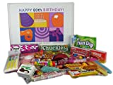 80th Birthday Gift Basket Box of Retro Candy