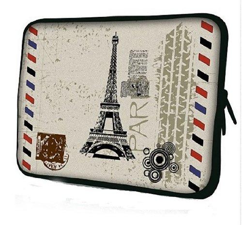 ノートPC Mac タブレット iPad 防水 インナー ケース スリーブ フランス エッフェル塔 柄 バッグ (15inch(38cm×29.5cm×2cm))