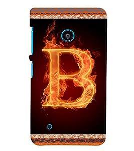 Fuson 3D Printed Alphabet B Designer back case cover for Nokia Lumia 530 - D4190