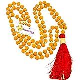 Karmashya 8Mm Haldi Turmeric Japa Mala Rosary 108 +1 Bead Prayer Meditation Prayer Red Om