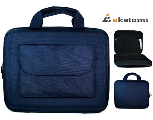 Limitless Hard Case Netbook Bag for Sony VAIO Duo Convertible Ultrabook 11.6-inch Fire-Screen Laptop - Blue. Bonus Ekatomi Screen Cleaner Sticker