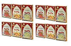 Sanskriti Combo of Chana Peshawari, Kadhi Pakoda & Haryali Rice - Pack of 12 (4 each)