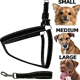 Dog Harness [FREE Leash Included] Heavy Duty - Adjustable & Durable - Premium Quality - Best Pet Control Training and Walking - Rescue Harness Collar for Large/Medium/Small Dog
