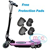Electric E Scooter Ride on Rechargeable Battery Height Adjustable 120W 24V (Pink, Red, Black, Blue)