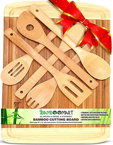 With 6-Piece Kitchen Utensils, Extra Large 18