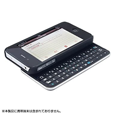 サイズ M Design iPhone4/4S対応 キーボードケース Air Slide Keyboard Case 黒 Bluetooth接続  MDKC-IP4-BK