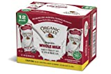 Organic Valley Whole Milk Grad A Vitamin D. No Refrigeration Needed - Pack of 12 x 8 Fl. Oz.