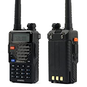 BaoFeng UV-5R+ Dual-Band 136-174/400-480 MHz FM Ham Two-Way Radio (Black)