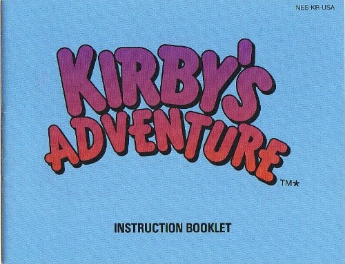 Kirbys Adventure Nes Nintendo Instruction Manual front-579924