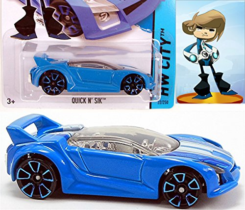 blue driver team hot wheels quick n 39 sik blue snap rides. Black Bedroom Furniture Sets. Home Design Ideas
