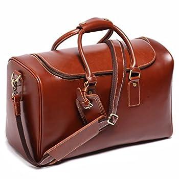 Leathario Mens Leather Weekend Travel Mens Duffel Bags