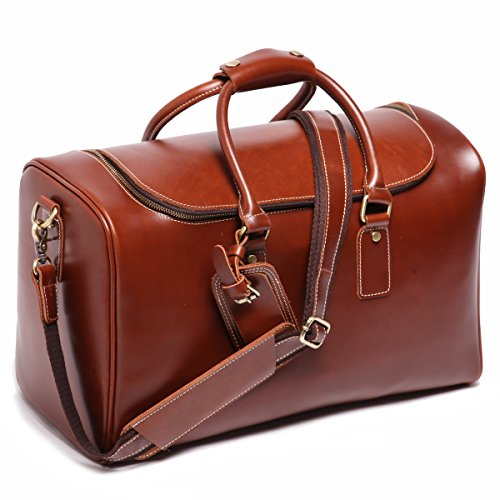 Leathario-Mens-Full-grain-Leather-Weekend-Travel-Duffel-Bag