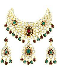Sukkhi Astonish Gold Plated Kundan Necklace Set For Women
