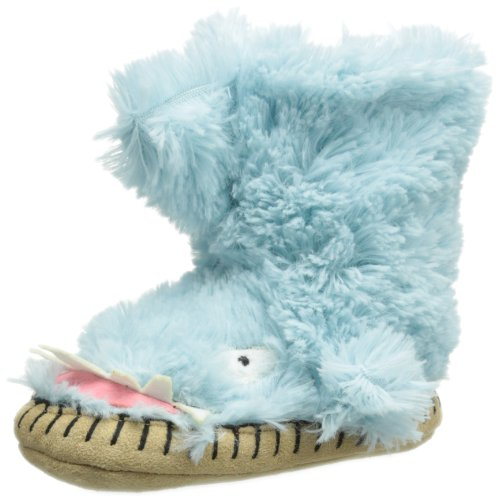 Hatley Little Boys' Kids Slouch Slipper-Shark, Blue, Medium/8-10 front-517055