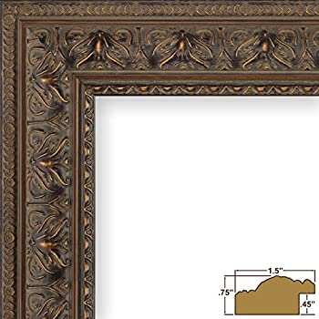 Craig Frames 9535 8 by 12-Inch Picture Frame, Antique Ornate Finish, 1.5-Inch Wide, Aged Mahogany