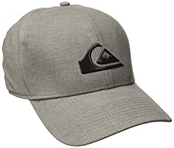 Quiksilver Men's Ag47 M and with Bonded Amphibian Hat, Steeple Grey, One Size