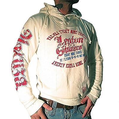 Yakuza Herren Sweatshirt HOB 524 Legion of Sinners white cab gray