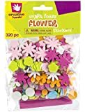 Creative Hands by Fibre-Craft - Mini Flower Foam Stickers 320/Pkg - Arts and Crafts - No Glue or Scissors Required - For Ages 3 and Up