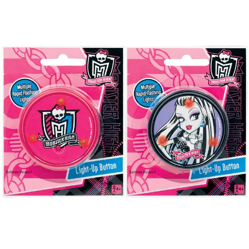 Monster High Light- Up Button- Frankie Stein