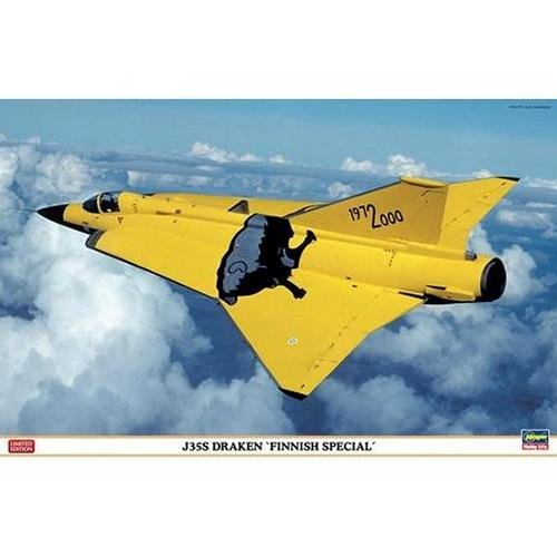 Hasegawa 07305 1/48 J35S Draken Finnish Special Limited Edition