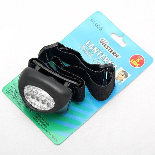 2013 New Head Light Lamp Black 5 Led Headlight Bulb Gasket Hiking Headlamp Camp