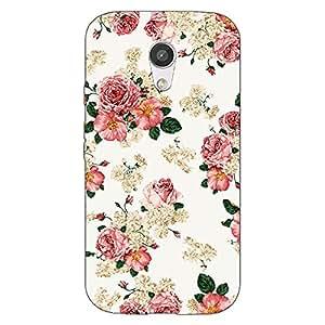 Jugaaduu Floral Pattern Back Cover Case For Moto G (2nd Gen)