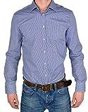 Venti Slim Fit Hemd blau kariert