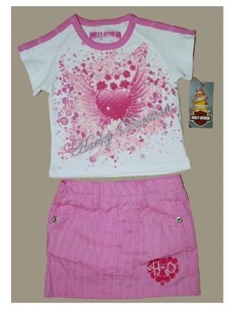 Harley-Davidson Little Girls' Top Tee and Shorts Set. 1112050 / 1122050