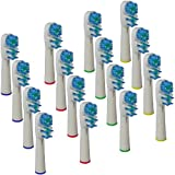 Brush-Me Oral B Compatible Dual Clean Replacement Soft Bristles Brush Head for Oral-B Flossaction ProfessionalCare 1000/3000/4000 with SmartGuide 5000 Series, Advance Power, 3D Excel, SmartSeries, TriZone, Triumph, Vitality Floss Action/Precision Clean/D