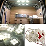 AUDEW 40 Led White Interior Lights Kit Led Modules Truck Ceiling ligths For LWB Van Lorries Sprinter Ducato Transit VW
