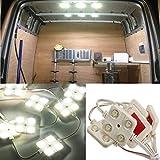AUDEW 40LED 14W LEDルームランプ LED室内照明ランプ 12V ホワイト 強力発光 省エネルギー テープ付 DIY 多用途 取付簡単