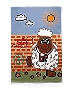 Tapis a Porter Alfombra Kids Concept Cielo/Rojo/Verde 120 x 180 cm