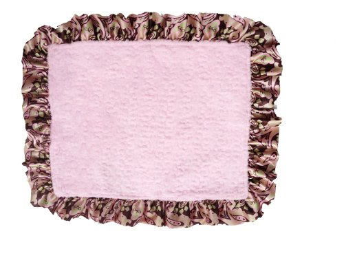 Patricia Ann Designs Satin Travel Silkie with Ruffled Trim, Paris with Pink