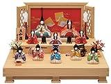 雛人形 ひな人形 人気 木目込み 一秀 コンパクト 二段飾り 十人飾り (大和雛・五人囃子裃)