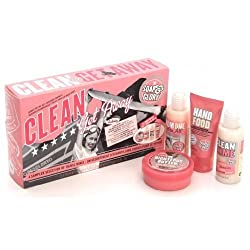 Soap And Glory Clean Getaway Gift Set 4 Mini Best Sellers Inc Hand Food