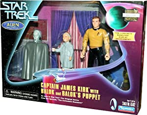 "CAPTAIN JAMES KIRK with BALOK and BALOK'S PUPPET as seen in Star Trek: The Original Series from the Episode ""The Carbonite Maneuver"""