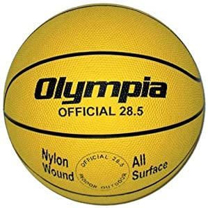Intermediate Women Yellow Rubber Basketballs - Set Of 6 by Olympia Sports