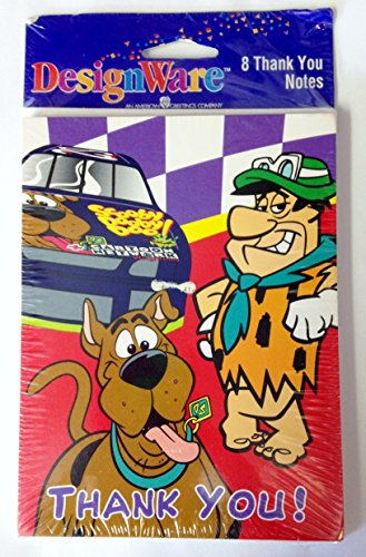 Cartoon Network Scooby Doo & Fred Flintstone Party Thank You Notes & Envelopes (8 Count) - 1