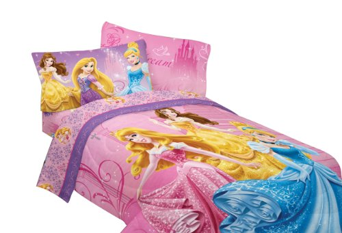 Disney Princesses Sparkling Elegance Sheet Set, Twin front-104662