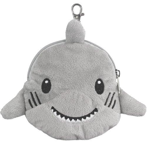 Shark Stuffed Animal Plush Pouch Purse Animal Case Clip on Bag Animal Zipper Pouch Wallet Bag