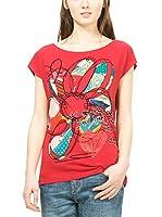 Desigual Camiseta Manga Corta Cristina (Rojo)