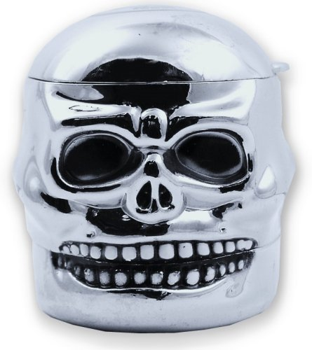 Cute Skeleton Skull Design Novelty 3 Stages Metal Spice Mills Grinder Pollen Screen with Storag Compartment Great Gifts