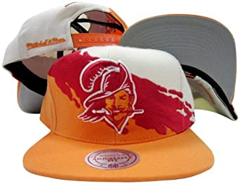 Tampa Bay Buccaneers Snapback Adjustable Plastic Snap Mitchell & Ness Hat Cap by Mitchell & Ness