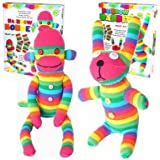 Craft Cupboard Make Your Own Rainbow Sock Monkey Childrens Craft Kit